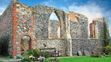 The old ruins of St Michael's Church Bowthorpe Norwich.
