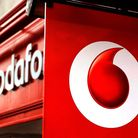 File photo dated 2/11/10 of the logo of Vodafone, as they are tonight marking 30 years since Britain