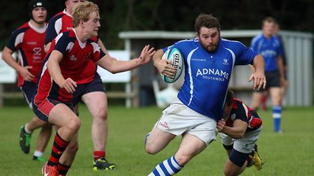 Action from Diss Saracens home defeat to Norwich Medics at Mackenders. Picture: John Bulloch