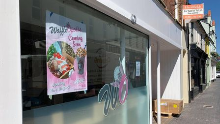 Work is currently ongoing at WaffleOpolis on Norwich Street in Fakenham, which plans to open in July.