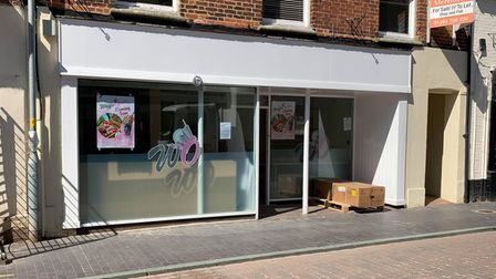 Work is currently ongoing at WaffleOpolis on Norwich Street in Fakenham.