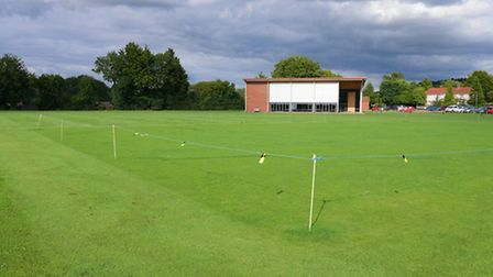 The cricket pitch at the Costessey Centre.Picture by SIMON FINLAY.