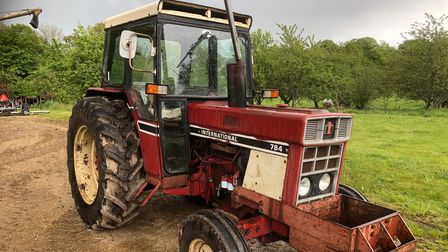 This International 784tractor is among more than 500 lots being auctioned at Park Farm in Heydon, near Aylsham