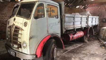 This vintage Foden lorry is among more than 500 lots being auctioned at Park Farm in Heydon, near Aylsham