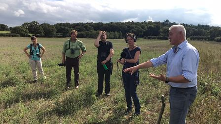 Guided tours have been launched for visitors to explore the rewilding area at the Wild Ken Hill esta