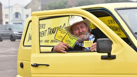 Jerry Jarvis has received parking fines for his replica of the Trotter's three wheeler which is park