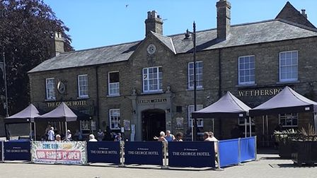 The George Hotel in Whittlesey