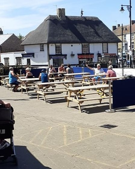 Market Square seating at The George in Whittlesey