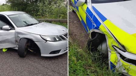 Cambridgeshire Constabulary's Beds, Cambs and Herts Roads Policing Unit stopped the group of suspected criminals on the A14