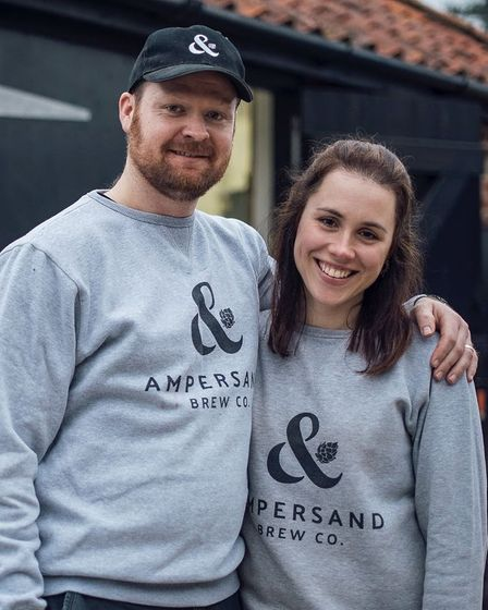 Andy and Amy of Ampersand Brew Co, which is in the process of moving to bigger premises in Diss