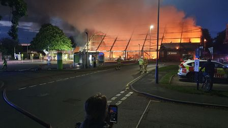 Fire at Budgens in Holt Picture: Lee Smith