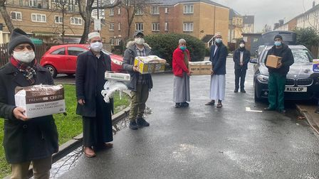 Volunteers rally to help community with foodon Isle of Dogs during height of pandemic.