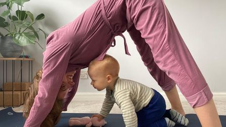"""Kathryn said yoga """"got her through"""" many difficult parts of pregnancy and post-birth."""