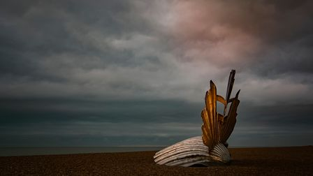 Early morning on the beach with the Scallop.....