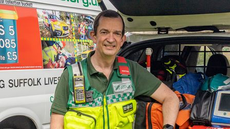 SARS volunteer Jeremy Mauger is to receive the Suffolk Medal today