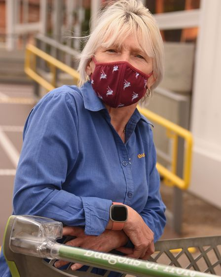 Budgens of Holt, one year on from the fire. Maggie Hoyland, supervisor. Picture: DENISE BRADLEY