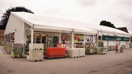 The temporary Budgens of Holt building. Picture: DENISE BRADLEY
