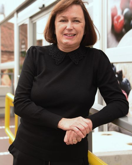 Budgens of Holt, one year on from the fire. Sandra Taylor-Meeds, general manager. Picture: DENISE BR