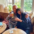 Gordon Lloyd and Di Baker at White Horse inNeatishead, where he used to be landlord but had not revisited for 32 years.