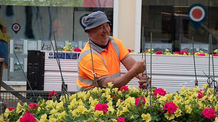 Floral displays are brightening up Bury St Edmunds and welcomingvisitorsback to the town.