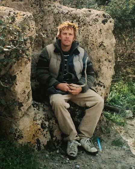 Will in Crete,taken by his father John Crump.