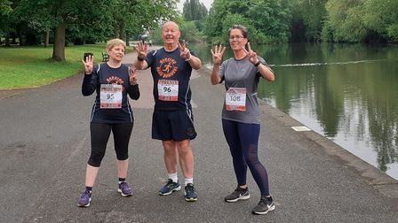 Alison, Joyce and Rob after their Phoenix longest day challenge