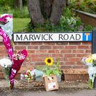 Floral tributes left at Marwick Road in March next to the B1101 Elm Road where a March man in his 40s