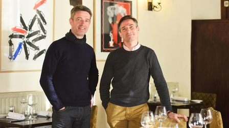 The owners of the Secret Garden Café in Sudbury,left to right, Alain Jacq and Stéphane Chapotot