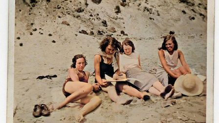 People enjoy the sun at Minsmere in 1934