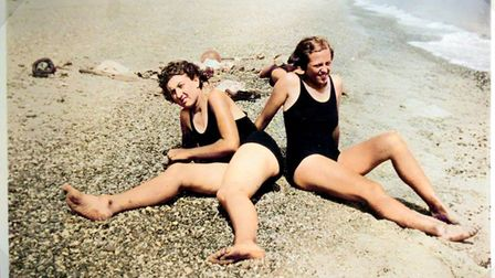 Swimmers enjoy lounging around on Minsmere's beach