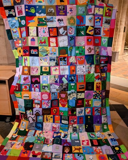 Fen Stitch Together' Community quilt, which was produced by artist Louise Beale.