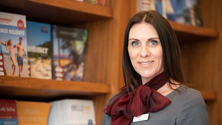 Travel agent Abi Nunn from Deben Travel in Woodbridge. Picture: Sarah Lucy Brown