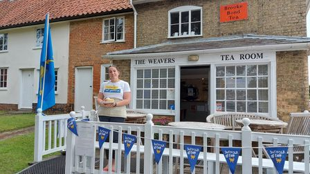 The Weavers Tea Room in Peasenhall celebrating Suffolk Day