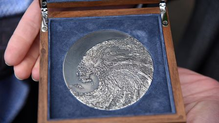 The Suffolk Medal, designed by Maggie Hambling
