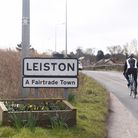 Leiston town centre and signs