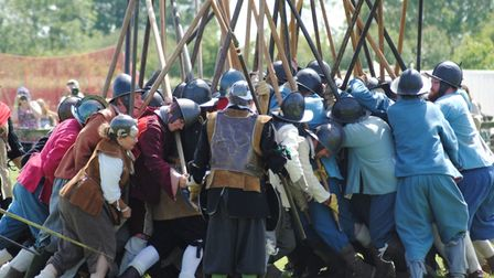 Members of the English Civil War Society at a previous event