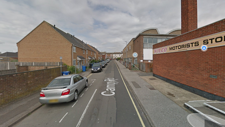 A man exposed himself to a woman in an alley in Camp Road, Lowestoft.
