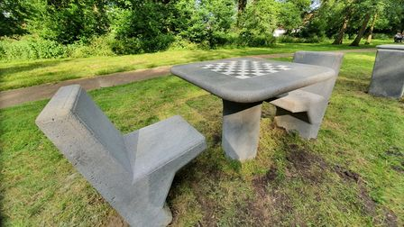 Breckland Council has installed table tennis and chess tables on Thetford's Butten Island.