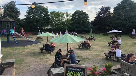 The Golf pub has a great children's play area within their big beer garden