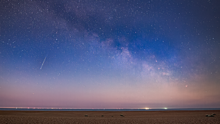 The Milkway was spotted rising over Shingle Street near Aldeburgh