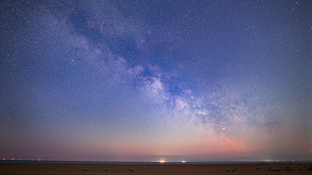 The Milky Way was captured over Shingle Street earlier this month
