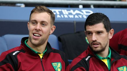Steven Whittaker, left, and Graham Dorrans have both been on development duty for Norwich City in re