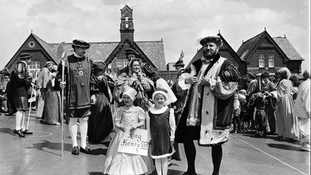 The sun shone on an Elizabethan Fayre at Stebbing from June 1987