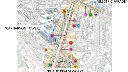 The bid proposes three separate projects to rejuvenate Clacton town centre.