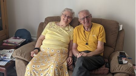 Amongst the first moving into Meadow Walk, on Trinity Road were Janet and Leonard.