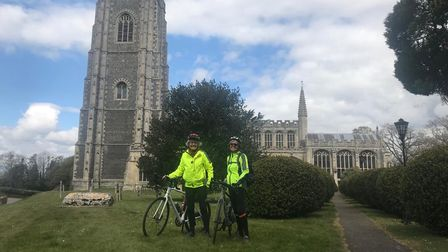 Rebecca Jordan of Great Bardfieldand Helena Graham of Great Dunmow on one of their training rides