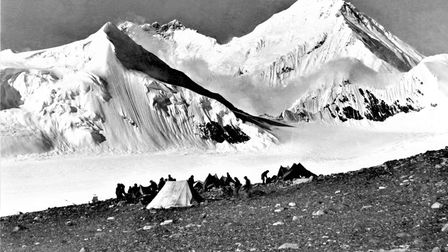 Last day of 1921 expeditioncamp at 19,000ft, with 200-mile march back to Darjeeling