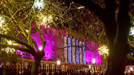 Norwich Christmas lights switch on. Picture: ANTONY KELLY