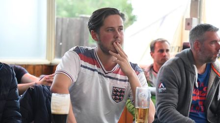 Fans nervously wait to see how England will fare in their final group game of Euro 2020