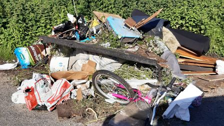 A pile of rubbish has been dumped in Brightwell Road